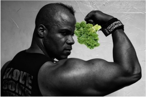bodybuilder and broccolli